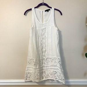 Sanctuary white eye-lit lace dress